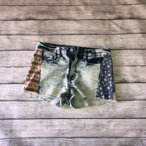 Mossimo High Rise American Flag Shorts Size 9